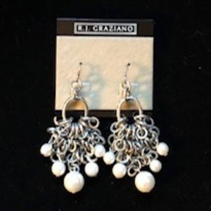 Silver and Pearl Cluster Earrings *NEW*